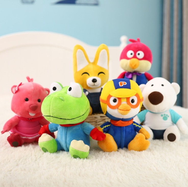 Genuine Bo Lulu Pororo Lele Penguin Doll Treasure Lulu Plush Toys Children Doll Crane Machines