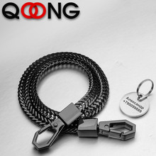 купить 41cm Rock Punk Long Metal Wallet Belt Chain Trousers Hipster Pant Jean Keychain Silver Ring Clip Keyring HipHop Jewelry Y75 дешево