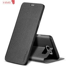 Étui x level pour Samsung Galaxy S7 Edge étui tout compris étui de protection à rabat de luxe pour Galaxy Note 20 Ultra étui
