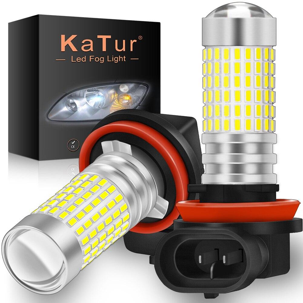 Светодиодные противотуманные фары H8, H11, H10, H16, 9005, HB3, 9006, HB4, PSX24W, лампы для дневных ходовых огней 144, синие и белые светодиодные лампы для Mazda 3, 6,...