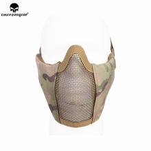emersongear Emerson Mesh Mask PDW Half Face Modular Protective Mask CS Airsoft Paintball Military Tactical Mask tactical half face metal steel net mesh mask hunting protective guard mask airsoft ear protection half face mask