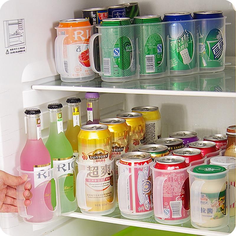 Refrigerator Storage Box Cola Beverage Space-saving Finishing Four Case Organizer Home Kitchen Organizer Kitchen Accessories