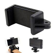 Держатель для телефона, выдвижной зажим, крепление для камеры, аксессуар, универсальный черный моноподы с винтовым отверстием 1/4, Портативный Регулируемый для GoPro