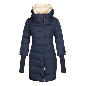 winter parka women m 4xl plus size khaki red black jacket 2019 new korean long sleeve standing collar slim warmth clothing jd521 Winter Jacket Women High Collar Hooded Cotton-padded Parka Female Long Quilted Coat Plus Size 4XL Fashion Clothes 2019 Brand