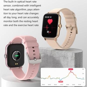 LEMFO Smart Watch Y20 2021 Men Women 1.69 inch Full Touch Screen Fitness Tracker IP67 Waterproof GTS 2 2e Smartwatch pk P8 Plus 2