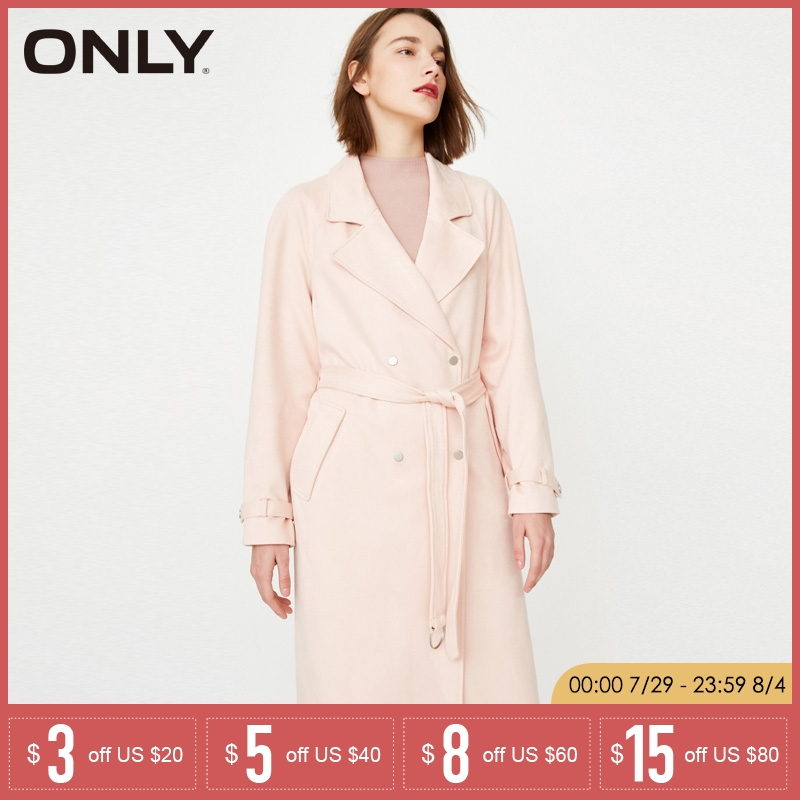 ONLY Autumn Loose Fit Long Wind Coat 118136515