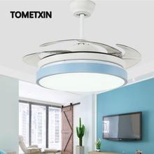 42 дюйма Макарон потолочный вентилятор с светильник дистанционный