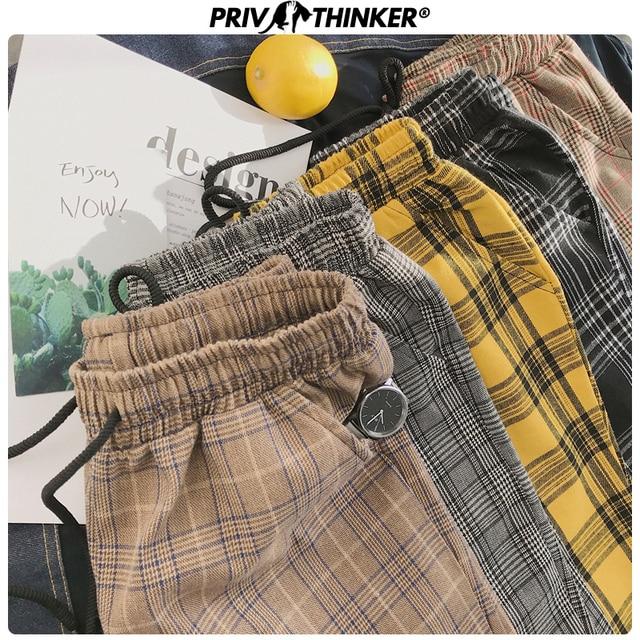 Privathinker Harajuku Plaid Pants For Women Trousers 2020 Streetwear Woman Harem Pants Autumn Ladies Causal Pants Plus Size 41