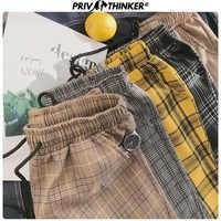 Privathinker Harajuku Plaid Pants For Women Trousers 2019 Streetwear Woman Harem Pants Autumn Ladies Causal Pants Plus Size