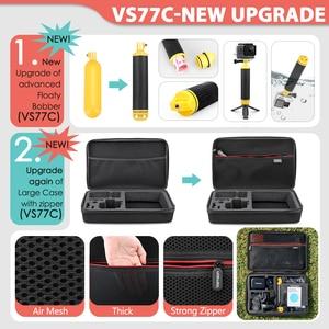Image 2 - Vamson para gopro acessórios conjunto para go pro herói 9 8 7 6 5 4 kit 3 vias selfie vara para eken h8r/para yi eva caso vs77
