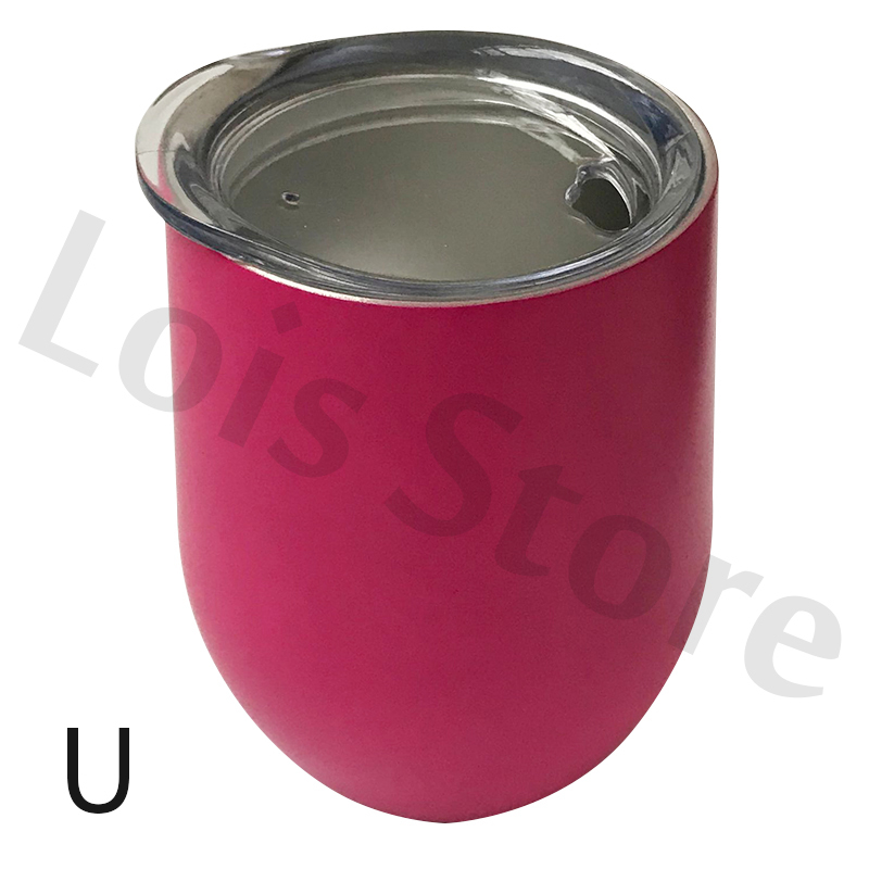 Wholesale 100pcs 12oz Wine Tumbler With Lid Stainless Steel Wine Glass Christmas Party Gift Mugs Wedding Brides Wine Bottle Gift