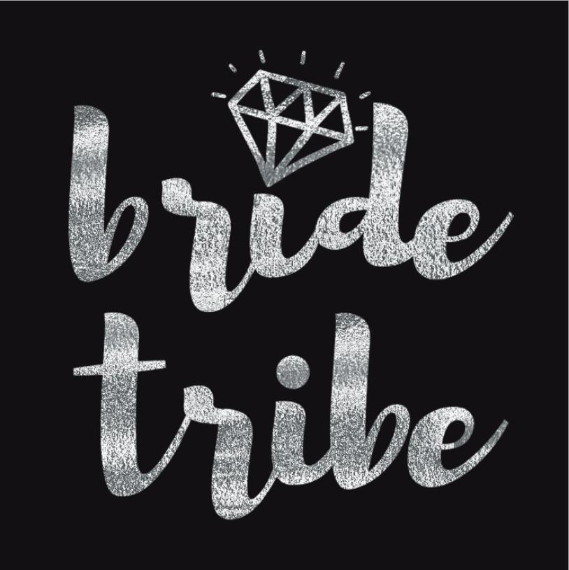 チーム花嫁はシルバーステッカータトゥーステッカー独身パーティー花嫁介添人部族分隊一時的なタトゥー編夜の結婚式の装飾