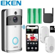 EKEN V5 Smart Phone Call Visual Recording Video Doorbell Night Vision Wireless WiFi Security Home Monitor Intercom Door bell