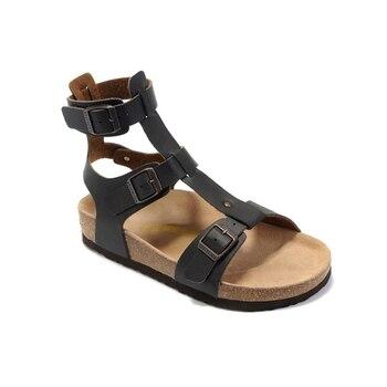 Birkenstock, varias hebillas de verano, sandalias para mujer con Puntera abierta, sandalias dorso de Metal, zapatos de tacón plano para mujer