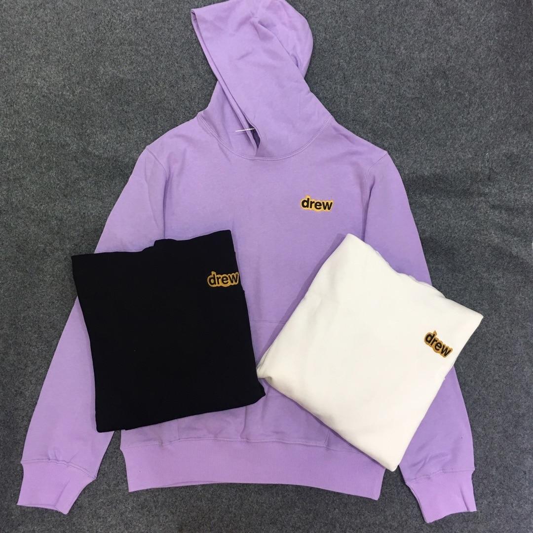 Justin Bieber 2019 The Drew House Logo Printed Women Men Hooded Sweatshirt Hoody Hoodie Hiphop Streetwear Men Cotton Hoodie