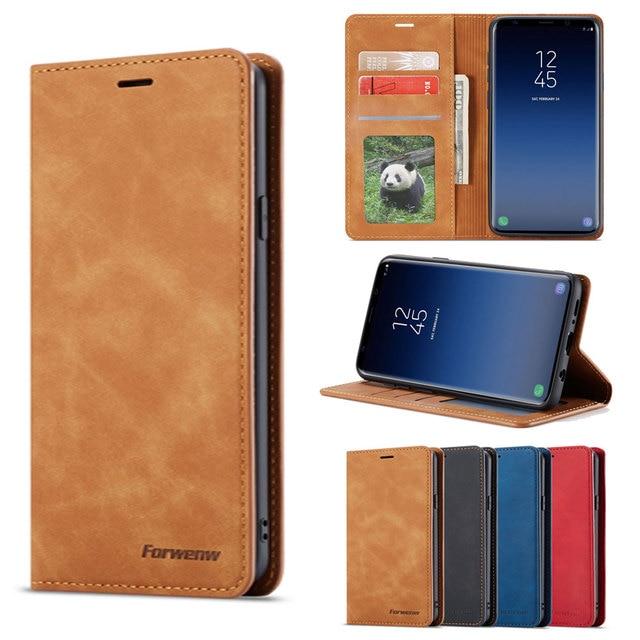 فليب غطاء محفظة جلدية فاخرة الهاتف حقيبة لهاتف سامسونج غالاكسي S8 زائد مثيت مغناطيسي SM G950F G955F Galaxys8 S8plus S 8 8 زائد