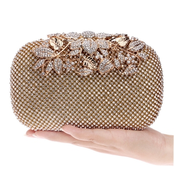 Rhinestones women evening bags crystal small day clutch with chain shoulder handbags diamonds luxury 2020 lady purse for party sekusa luxury women evening bags hollow out style diamonds metal clutch purse wedding bridal small handbags for party bags