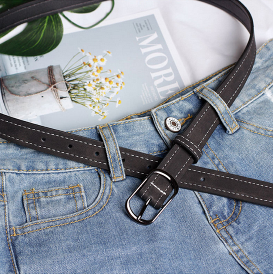 Creative Model Japanese Word Buckle Casual Ladies Belt Youth Fashion Wide Belt Belt Women