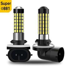 2pcs H27W/2 881 Led Fog Lights 1200LM H1 H3 880 H27 Led Fog Lamps Driving Running Lamps Canbus 78SMD 3014 White 12V