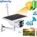 1080 P, солнечная мощность, 4G, sim-карта, ip-камера, уличная, IP67, PIR, обнаружение, двойной светильник, видеонаблюдение, безопасность, беспроводная ба...