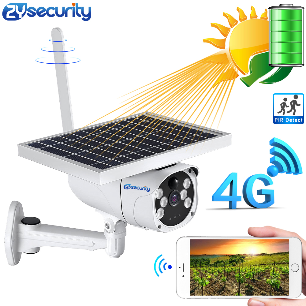 1080P 6W Solar Battery 4G SIM Card IP Camera Outdoor IP67 PIR Detect Dual Light Video Surveillance Security Wireless Camera WiFi