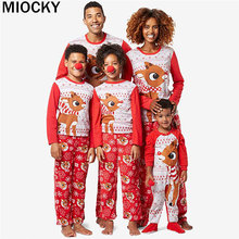 Christmas Family Suit Jumpsuit 2019 Women's Men's Christmas Pajamas Pajamas Hooded Zipper Clothing Christmas New Year Set E0312