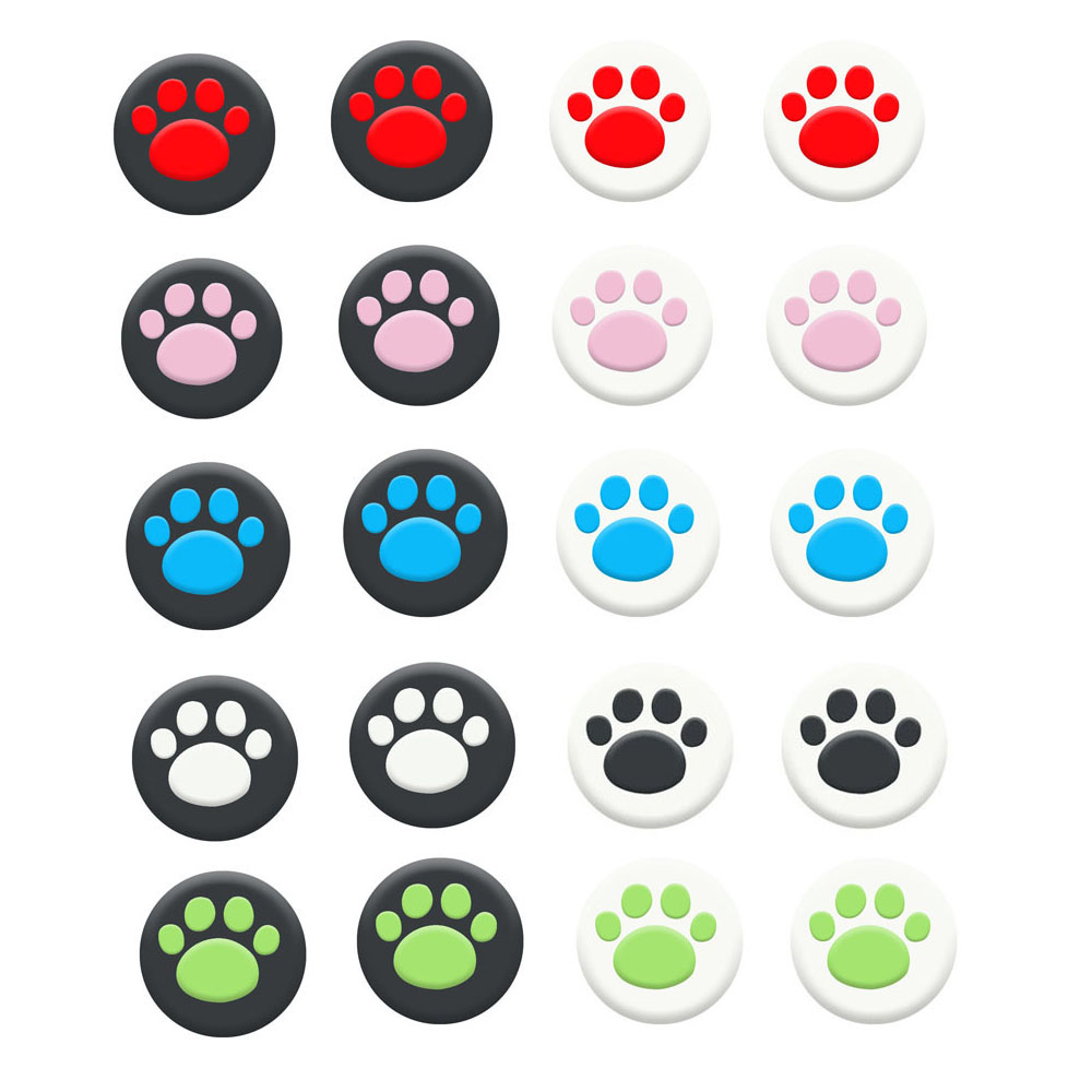 Cat Paw Thumb Stick Grip Cap Joystick Cover Case For Sony PS5 PS4 PS3 Slim Xbox 360/One Series X/S Elite Switch Pro Thumbstick
