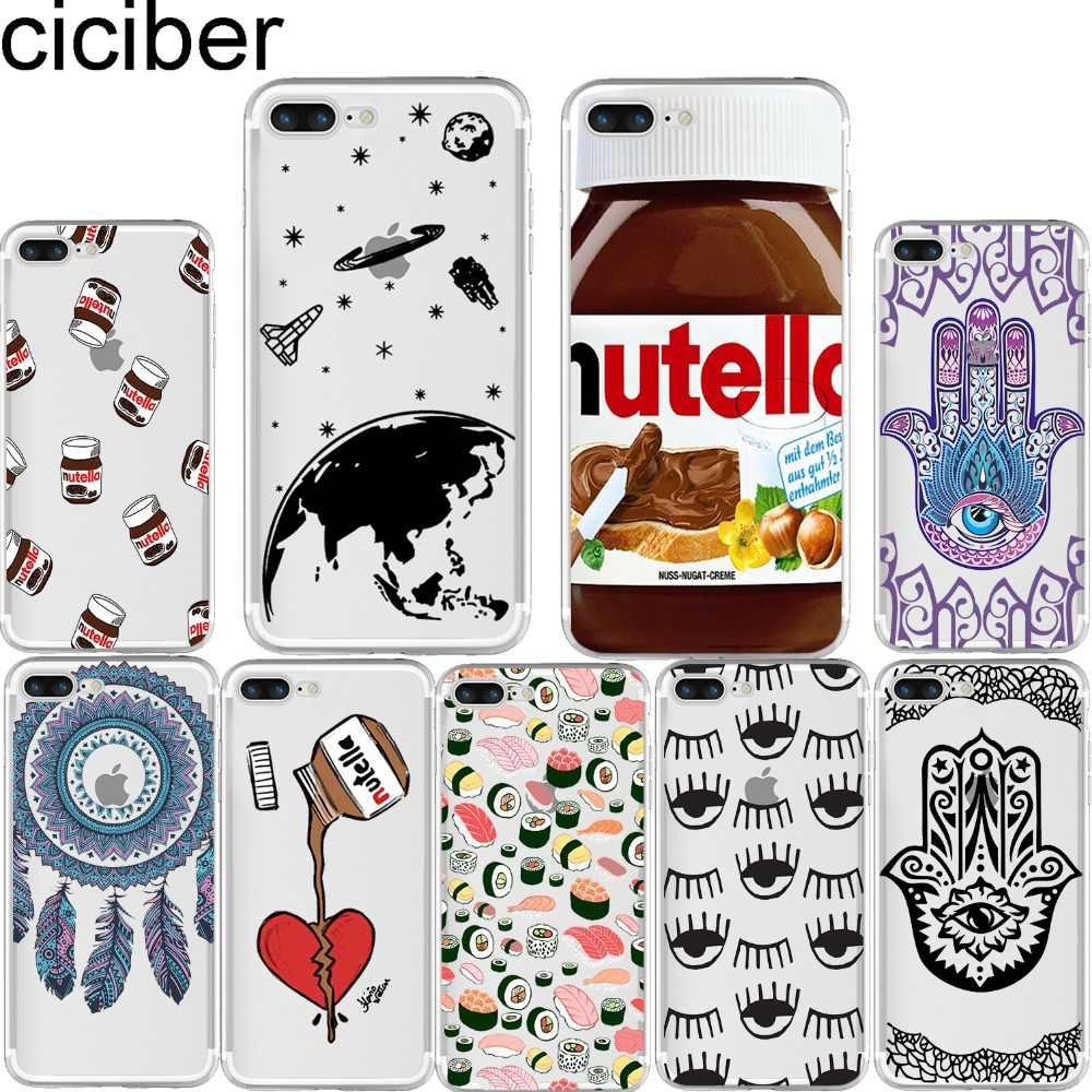 ciciber Tumblr Nutella Dreamcatcher Sushi Fatima Soft Silicon Case Cover for Iphone 11 Pro Max 7 6 6S 8 Plus 5S SE X XR XS MAX