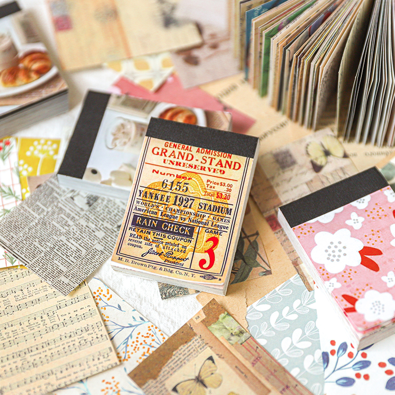Love Diy Paper Sticky Notes Flower Memo Pad Diary Stationary Flakes Scrapbook Decorative Vintage Garden Landscape Material Book