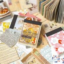 Bloc de notas adhesivas de papel diy con diseño de flores, Bloc de notas para diario, Bloc de notas con escamas estacionarias, libro decorativo de material de paisaje de jardín Vintage