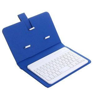 Беспроводная Bluetooth клавиатура с чехлом из ПУ кожи, защитный чехол для iPhone iPad Huawei Xiaomi Samsung мобильный телефон-планшет