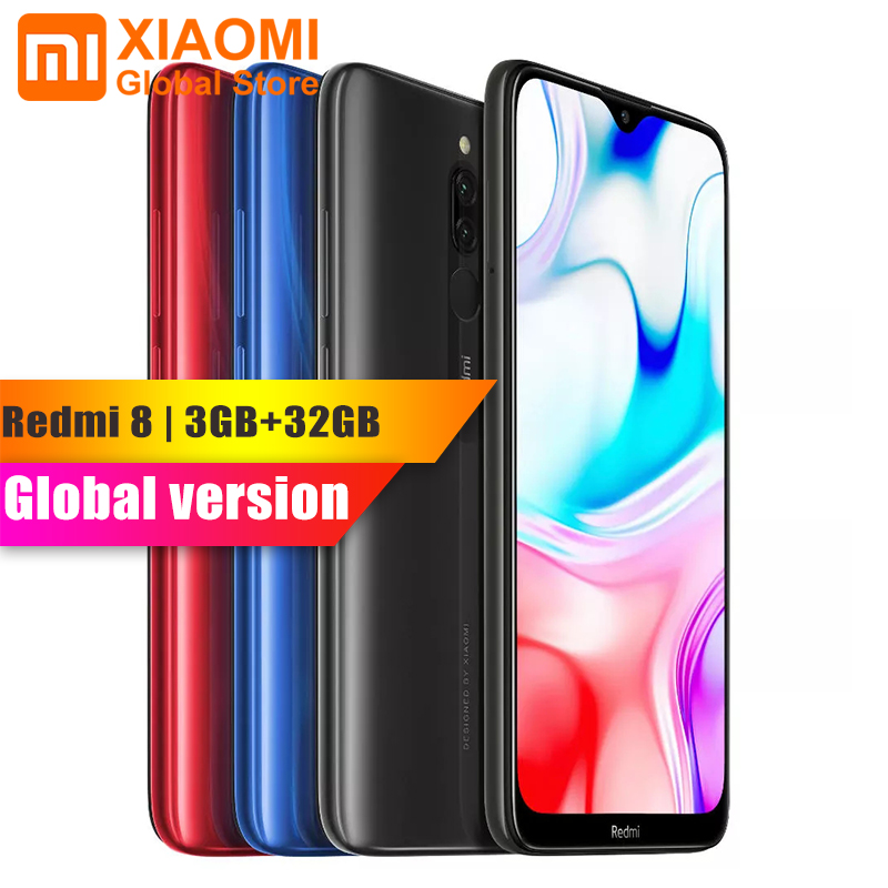 Globale Version Xiaomi Redmi 8 3GB RAM 32GB ROM Handy Snapdragon 439 Octa Core 12MP Cam <font><b>5000mAh</b></font> <font><b>Batterie</b></font> 6.21