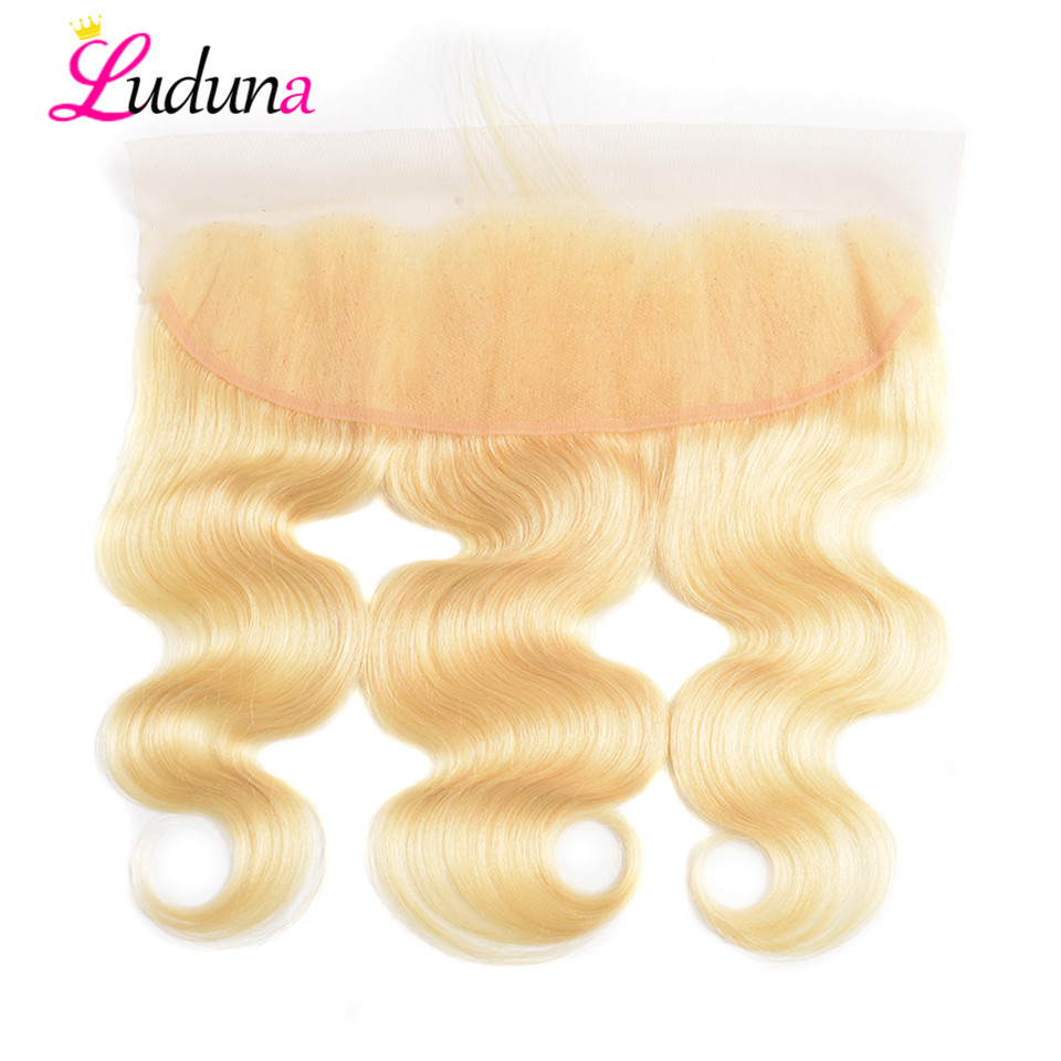 Luduna 613 Lace Frontal Body Wave Lace Frontal Closure Human Hair Frontal Ear To Ear Lace Frontal Closure Brazilian Remy Frontal image