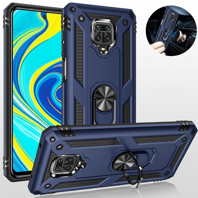 Luxury Magnetic <font><b>Ring</b></font> <font><b>Case</b></font> For Xiaomi Redmi <font><b>Note</b></font> 9s Shockproof Armor Kickstand Cover For Redmi <font><b>Note</b></font> 9s 8 <font><b>9</b></font> s Pro Max 8T K30 Coque image