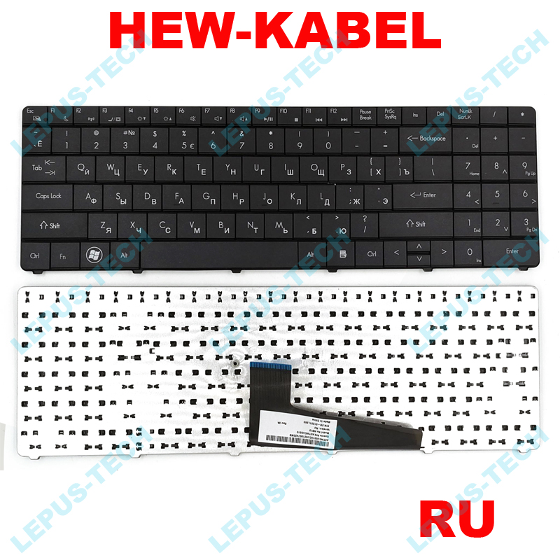 Russian Keyboard For DNS A560 A560P K580 K580P 0129308 TWH AETWH700010 2B 41516Q100 TWH N12P GV2 AETWHA00010 RU-in Replacement Keyboards from Computer & Office on