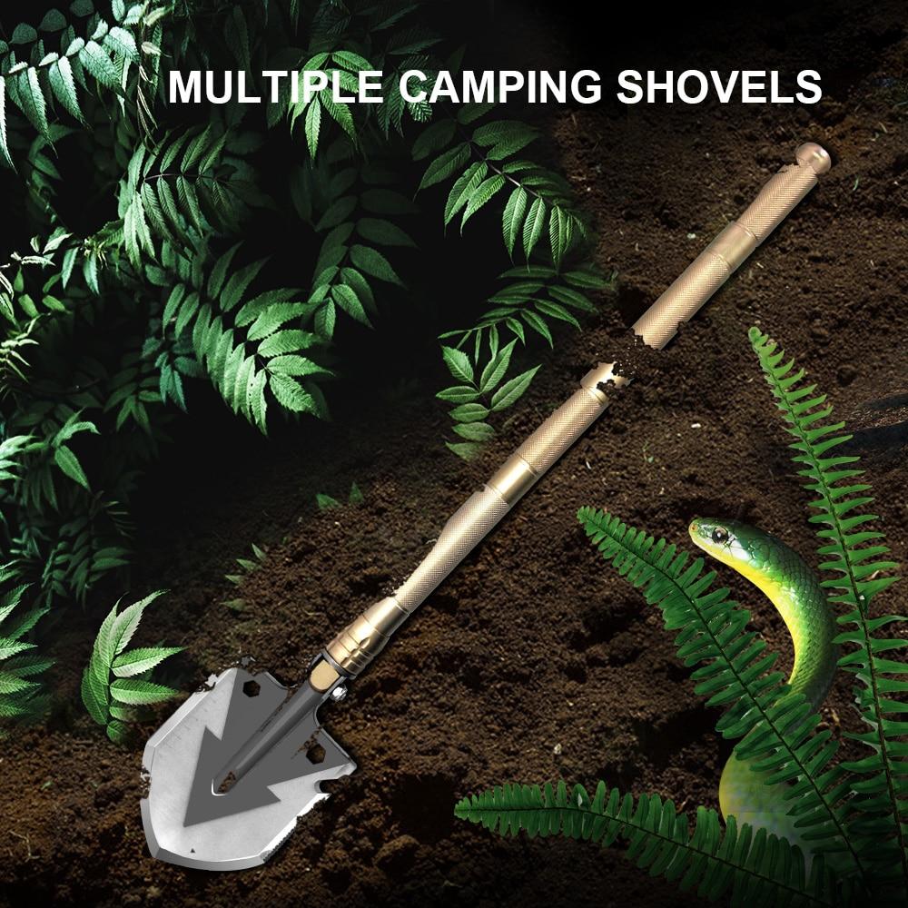 Military Folding Shovel Camping Survival Multifunctional Trowel Snow Shovel Outdoor Pocket Knife Multitool Gardening Tools
