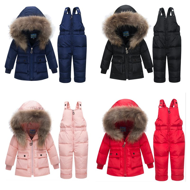 2019 New Baby Winter Snowsuits Kids Down Jacket Set Baby & Toddler Winter Thickening Set Short Boys And Girls Down Jacket