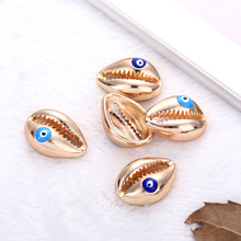 10pcs Gold Color Alloy Shells Charms For Jewelry Making Necklace Bracelet DIY Charm Bracelet Jewelry Accessories 10pcs blue cute eye charms connectors pendant handmade for diy necklace bracelet jewelry making alloy accessories
