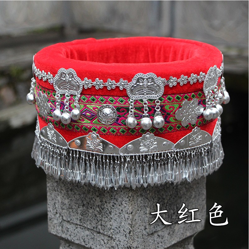 Hmong hat miao jewelry Chinese Folk Dance hair accessories Miao hat ethnic minority stage performance wear accessories