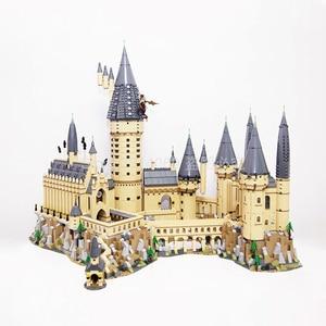 16060 Movie Castle Magic H warts School Model 6120pcs Building Block Bricks Toys 71043 Gift For Children(China)