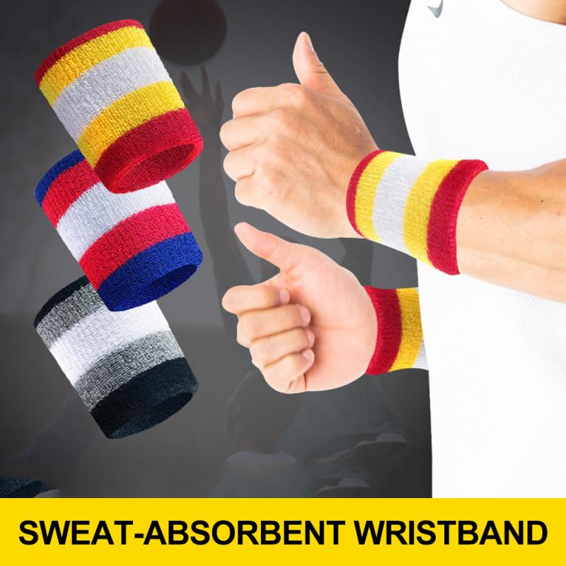 1pcs Wristbands Professional Hand band Sport Breathable Cotton Sweat-absorbent Protector Running Badminton Basketball Brace