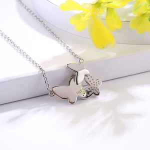 Image 5 - SG chain necklace women jewelry 925 sterling silver 3 butterfly necklaces with cz Fashion Party jewelry 2019 NEW arrive
