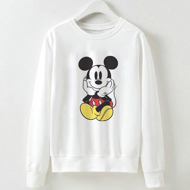 2019 New Women Sweatshirts Hoodies Harajuku Cartoon Printed Casual Pullover Cute Jumpers Top Long Sleeve O-neck  Polyester Tops