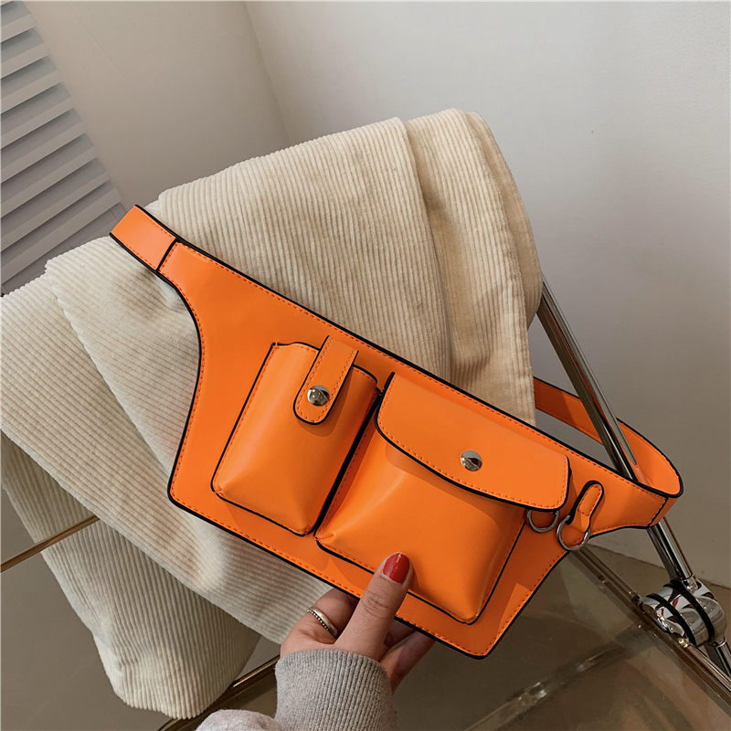 Women Waist Bag Pu Leather Fanny Pack Luxury Women Belt Bag For Women Crossbody Bags Casual Chest Pack Female Purse