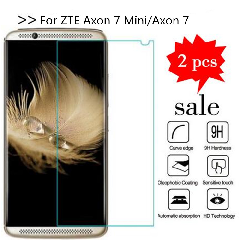 2PCS Glass For ZTE Axon 7 Mini Screen Protector Tempered Glass For For ZTE Axon 7 2017  Protective Film