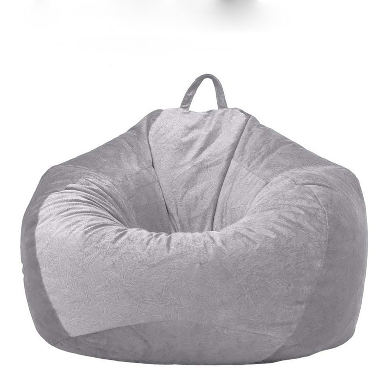 Soft Bean Bag Covers Sofa Chair Without Filling Lounger Seat Bean Bags Puff Couch Home Living Room Lazy Sofa Covers