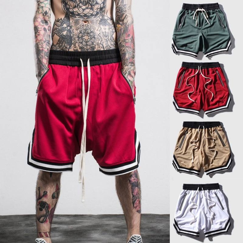 ZOGAA Men Quick-drying Sports Running Training Gym Short Pants Basketball Shorts Thin Section Breathable Fitness S-5XL