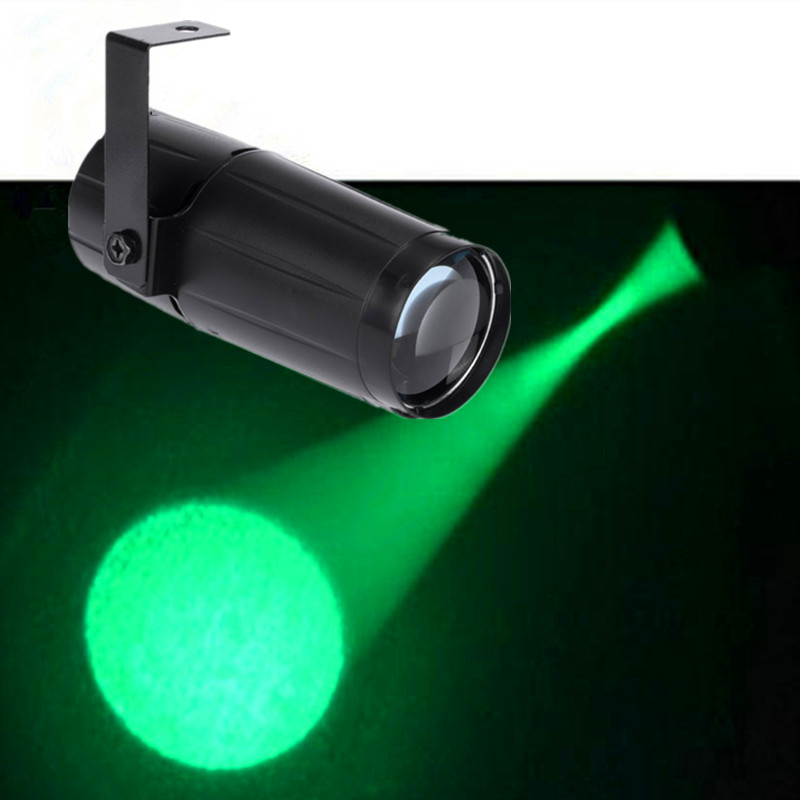 Green Color LED Pinspot Light Total 5 Watt High Power Super Bright Spotlight For Mirror Balls DJ LED Lighting/LED Beam Lights