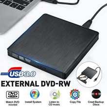 Usb externo 3.0 unidade de dvd unidade óptica cd rom player CD-RW gravador leitor gravador gravador leitor portatil para computador portátil windows pc
