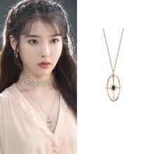 Beauty DEL LUNA Hotel IU Korean dramas TV clavicle chain Necklace for women girl fashion jewelry choker mujer accesorios